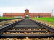 Auschwitz II - Birkenau - Entrance gate and main track. Photo shot in summer 2004.