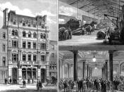 The Daily Telegraph's new offices and printing premises in Fleet Street, London. Illustrated London News, 1882.