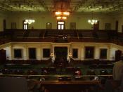 English: The Senate Chamber of the Texas Capitol Español: Sala de Senadores, Capitolio de Texas