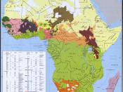 English: Ethnic groups of Africa in 1996. Principle source: Africa, its peoples and their cultural history, G.P. Murdock, 1959. Français : Groupes ethniques d'Afrique en 1996.