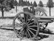 Photo of M1905 Howitzer used by Allied Forces in World War I