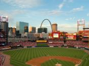 Busch Stadium, as seen during the park's opening year in 2006