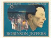 1973 U.S. Postal Service stamp in honor of Robinson Jeffers