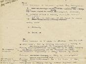 Beveridge Report - First Draft, 1941