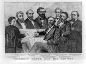 English: President Hayes and his cabinet
