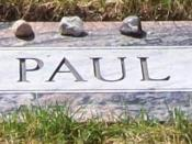 English: Detail of Paul Wellstone gravesite