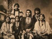 Chief Joseph and family, circa 1880. (Click on image for longer description.)
