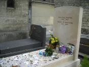 The grave of Jean-Paul Sartre and Simone de Beauvoir. Montparnasse Cemetary, Paris.
