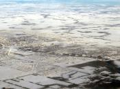 Aerial View of the city of Grande Prairie, Alberta, Canada