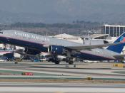 UAL 777-200 N224UA departing LAX