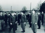 General William J. Donovan reviews the Operational Groups (OGs) at Area F, the Congressional Country Club in Bethesda, Maryland, prior to their departure for China.