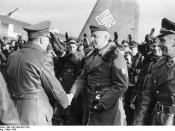 Von Manstein greeting Hitler. On the right are Hans Baur and von Richthofen.
