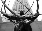 Atlas sculpture, New York City, by sculptor Lee Lawrie.