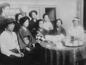 English: Women's Rights Meeting in Tokyo seeking universal suffrage