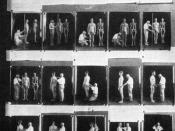 Anthropometry demonstrated in an exhibit from a 1921 eugenics conference.