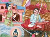 Representation of a soul undergoing punarjanma. Illustration from Hinduism Today, 2004