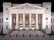 Photo of the Schermerhorn Symphony Center's main entrance in Nashville, Tennessee