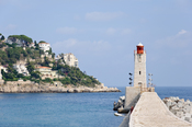 The lighthouse of Nice, on the Mediterranean coast (French Riviera).