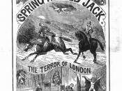Ad for a Spring Heeled Jack Penny Dreadful (1886)