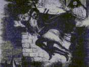 Spring Heeled Jack as depicted by an anonymous artist - English penny dreadful (c. 1860)