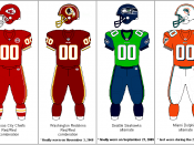 Rarely used or yet to be revealed sports uniforms of the National Football League. Trademark of the NFL Players Association.