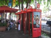 SingTel phone booth
