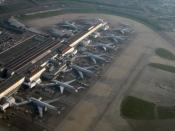 English: Aerial view of the London Heathrow Airport Terminal 4