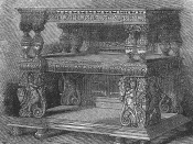 Jacobean court-cupboard.