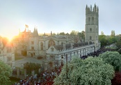 English: Magdalen College, Oxford on May Morning, 2007.