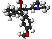 The chemical structure of venlafaxine (Effexor), an SNRI