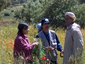 Two conservationists collecting indigenous knowledge on cultural practices that favour CWR populations, from a farmer near Fes, Morocco.