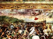 Constantine at the battle of the Milvian Bridge, fresco by Raphael, Vatican Rooms.