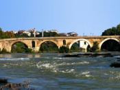 English: Side view of Ponte Milvio, Rome.