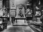 English: Poets' Corner, Westminster Abbey. Copyright lapsed. Taken from VictorianWeb which gives explicit permission. de:Bild:Poet's Corner.jpg nl:Afbeelding:Poets corner.jpg