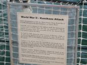 World War II Kamikaze Attack Sign