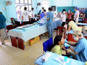 US Navy 100609-N-6410J-252 Vietnamese citizens receive dental care at the Hai Cang medical clinic during a Pacific Partnership 2010 medical community service project