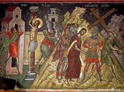 Icon of Jesus being led to Golgotha, 16th century, Theophanes the Cretan (Stavronikita Monastery, Mount Athos).