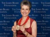 English: receiving the 2008 Humanitarian Award from the James Beard Foundation
