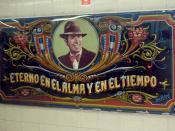 Español: Fileteado, en la estación de subterráneo Carlos Gardel. Buenos Aires, Argentina. Obra de León Untroib