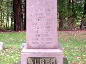 English: Grave of American author Horatio Alger, Jr. and members of his family, located in Natick, Massachusetts.