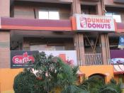 English: Dunkin' Donuts shop on Jinnah Avenue in Blue Area of Islamabad, Pakistan.