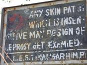 Leprosy Warning sign
