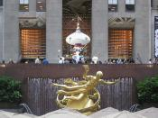 Murakami at Rockefeller Center 04: Buddhism vs. Greek mythology