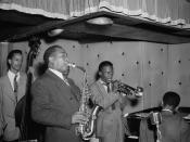 Portrait of Charlie Parker, Tommy Potter, Miles Davis, Duke Jordan, and Max Roach, Three Deuces, New York, N.Y.