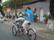 A rickshaw in Hochiminh city, Vietnam.