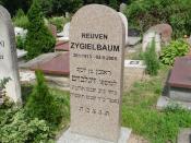 English: Grave of Reuven Zygielbaum Polski: Grób Reuvena Zygielbauma
