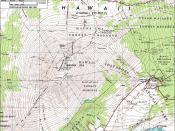 Topographical map of Mauna Loa