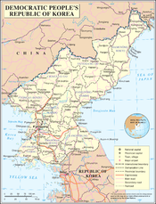 An enlargeable map of the Democratic People's Republic of Korea