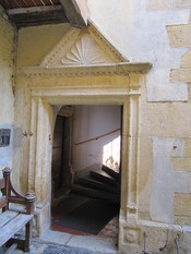 Inner door and stairs of Pontet mansion, Colombier