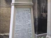 Tomb of Baudelaire, located in the Montparnasse Cemetery